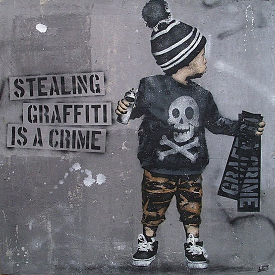 "Ausstellung ""StreetArt – Stealing Graffiti is a Crime"", 01.03.-28.03.2015"