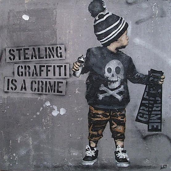 """Ausstellung """"StreetArt – Stealing Graffiti is a Crime"""", 01.03.-28.03.2015"""