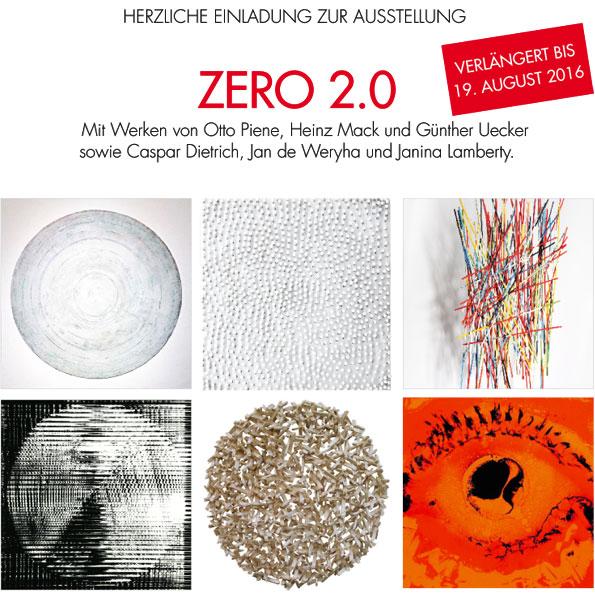 ZERO 2.0 – verlängert bis 19. August